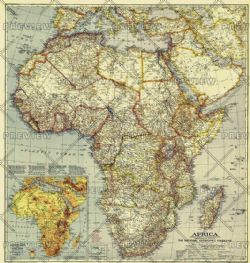 National Geographic Wall Maps of Africa